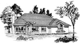 House Plan 55284 | Florida Style Plan with 1883 Sq Ft, 3 Bed, 2 Bath, 2 Car Garage Elevation
