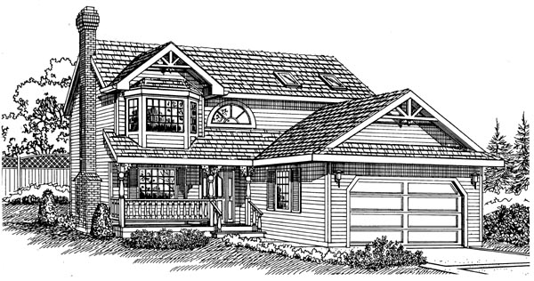 Victorian House Plan 55285 Elevation