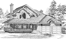 Country House Plan 55286 Elevation