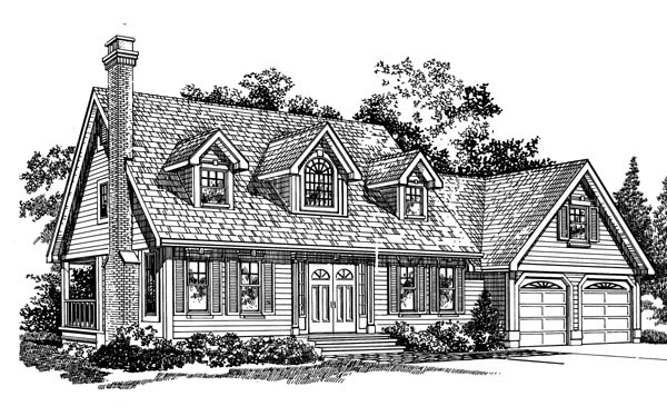 Cape Cod House Plan 55287 Elevation