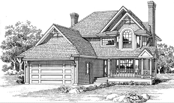 Victorian House Plan 55290 Elevation