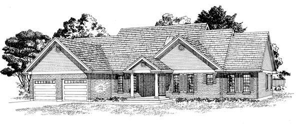 Ranch House Plan 55292 Elevation