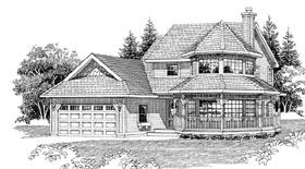 Victorian House Plan 55293 Elevation
