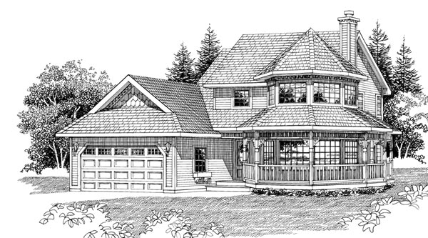 Victorian House Plan 55293 Elevation
