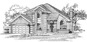 European House Plan 55294 Elevation