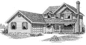 Country House Plan 55296 Elevation