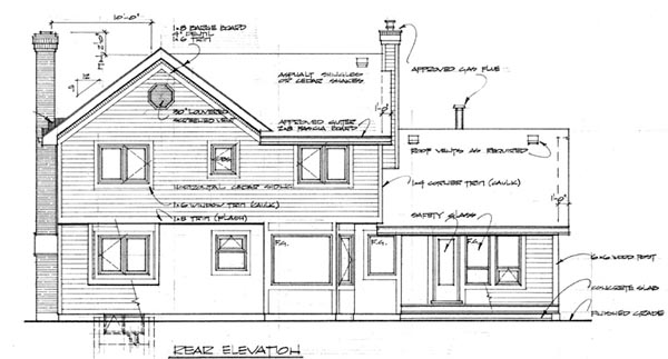 Country House Plan 55296 Rear Elevation