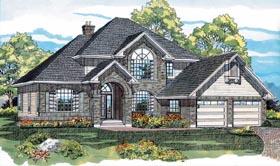 European House Plan 55297 Elevation