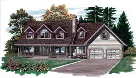 Country House Plan 55298 Elevation