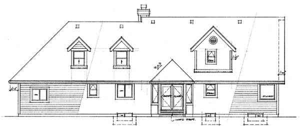 Country House Plan 55298 Rear Elevation