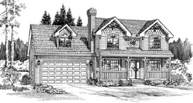 Victorian House Plan 55300 Elevation