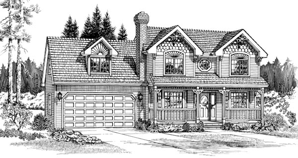 Victorian House Plan 55300 Elevation