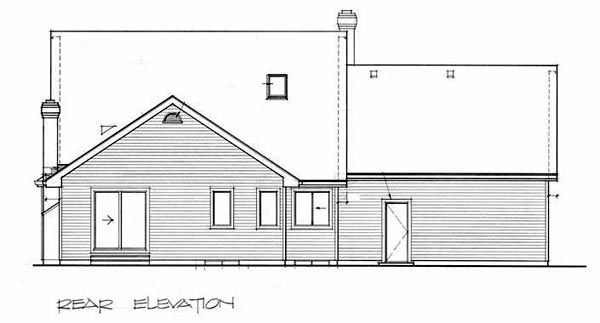 Victorian House Plan 55300 Rear Elevation