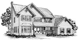 Traditional House Plan 55301 Elevation