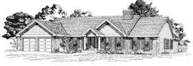 Ranch House Plan 55303 Elevation