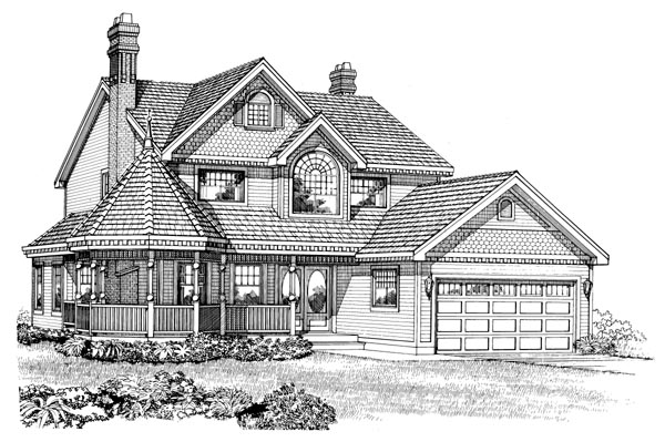 Victorian , Elevation of Plan 55304