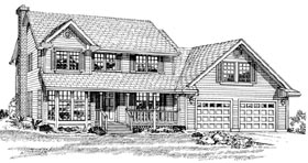 Country House Plan 55305 Elevation