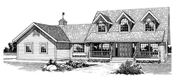 Country House Plan 55307 Elevation
