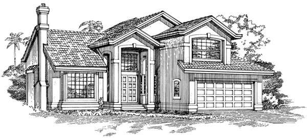Contemporary House Plan 55311 Elevation