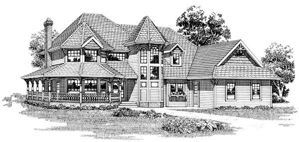 Victorian House Plan 55312 Elevation