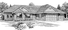 Traditional House Plan 55313 Elevation