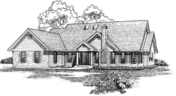 Traditional House Plan 55314 Elevation