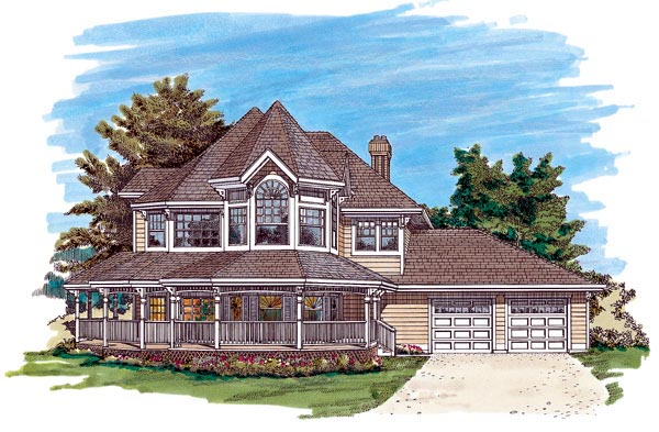 Victorian House Plan 55316 Elevation