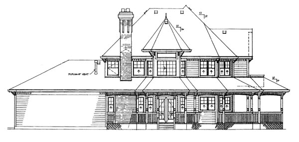 Victorian House Plan 55316 Rear Elevation