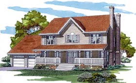 Country House Plan 55317 Elevation