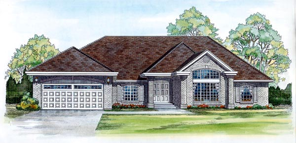 Traditional House Plan 55318 Elevation