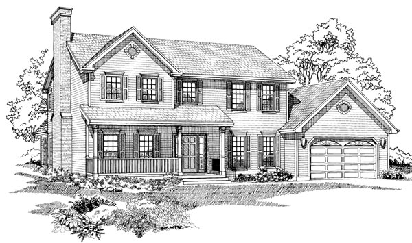 Traditional House Plan 55319 Elevation