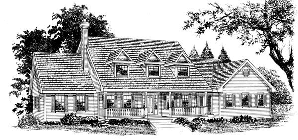Country House Plan 55321 Elevation