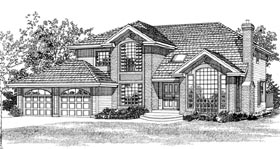 European House Plan 55322 Elevation