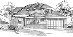 Traditional House Plan 55324 Elevation