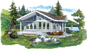 Contemporary House Plan 55328 Elevation