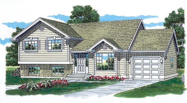 Traditional House Plan 55330 Elevation