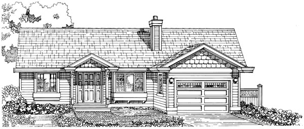 Ranch House Plan 55332 Elevation