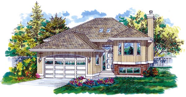 Contemporary House Plan 55333 Elevation