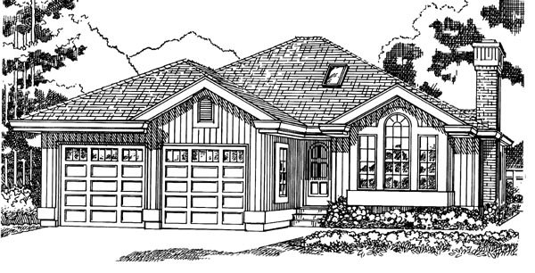 Contemporary House Plan 55334 Elevation
