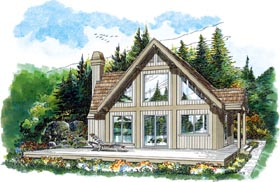 Contemporary House Plan 55335 Elevation