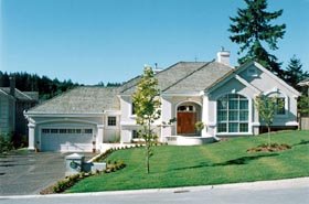 House Plan 55337 | European Style Plan with 2572 Sq Ft, 3 Bedrooms, 3 Bathrooms, 2 Car Garage Elevation