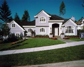 European House Plan 55339 with 4 Beds, 5 Baths, 3 Car Garage Elevation