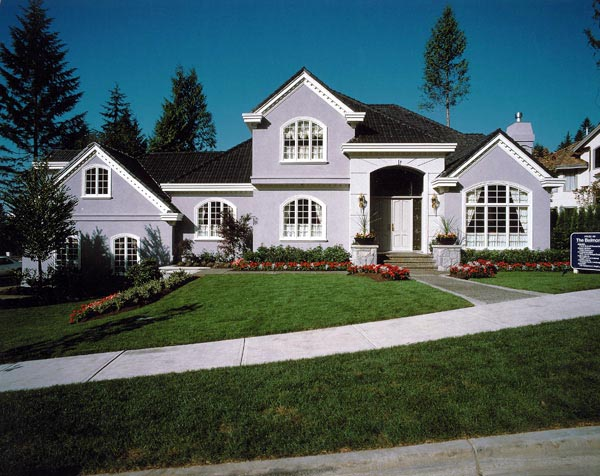 European House Plan 55339 Elevation