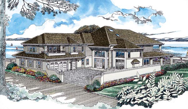 Contemporary House Plan 55340 Elevation
