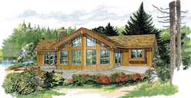 Contemporary House Plan 55341 Elevation