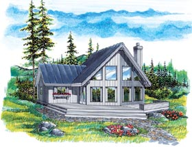 Contemporary House Plan 55342 Elevation