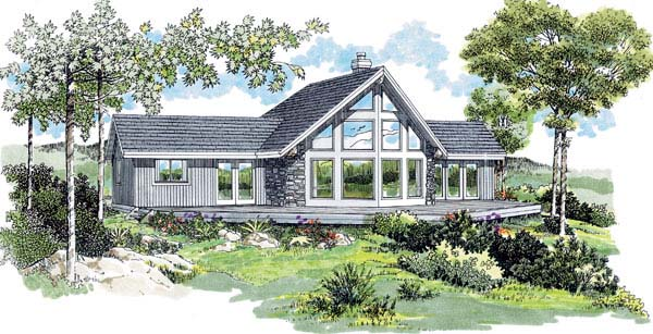 Contemporary House Plan 55343 Elevation