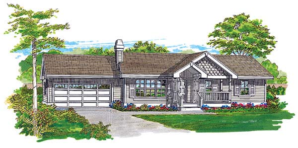 Ranch House Plan 55345 Elevation