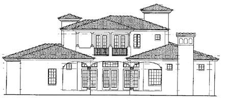 Ranch House Plan 55345 Rear Elevation