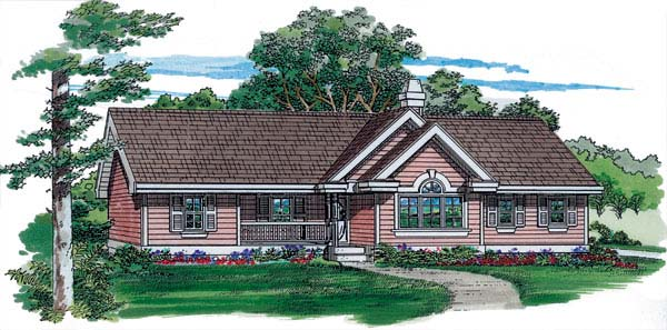 Ranch House Plan 55346 Elevation